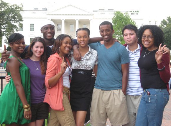 Members of the DC Posse 1 in front of the White House