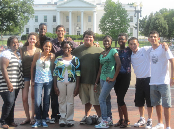 Members of the DC Posse 2 in front of the White House
